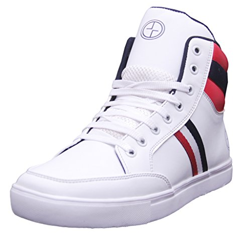 Black Tiger Shoes For Mens Synthetic Leather Boots & Casual Shoes and sneakers 8053-White Shoes -10