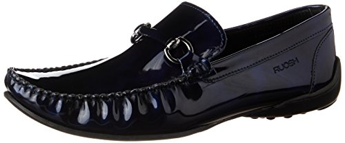Ruosh Men's Blue Leather Loafers and Moccasins – 10 UK/India (44 EU)
