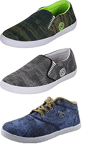 Globalite Combo Of 3 Men's Casual Shoe & Loafer GSC1231_1227_1178 Sneaker UK/IN 8