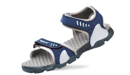 Sparx Men's Navy Blue and Light Grey Athletic and Outdoor Sandals – 8 UK/India (42 EU)(SS-103)