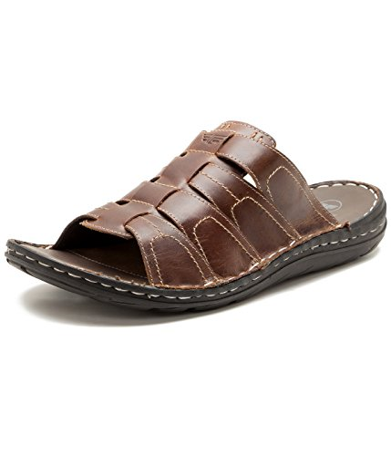 Red Tape Men's Brown Leather Slippers – 10 UK/India (44 EU)