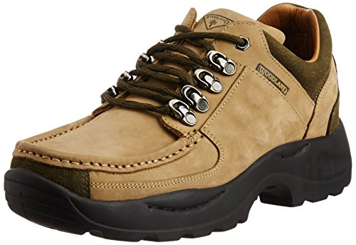 Woodland Men's Khaki Leather Sneakers – 8 UK/India (42 EU)