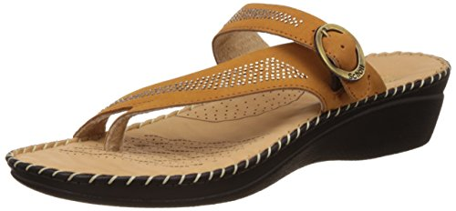 Dr. Scholls Women's Alice Toe Ring Beige Leather Slippers – 4 UK/India (37 EU)(6748932)