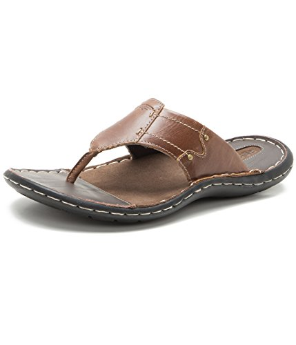 Red Tape Men's Brown Leather Slippers – 8 UK/India (42 EU)