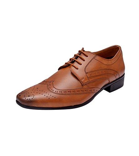 Hirel's Men's Tan Derby Brogues Formal Shoes – 10