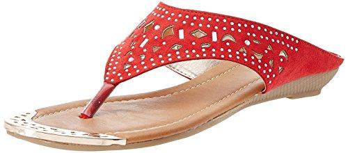 Bata Women's Ulf Thong Red Slippers – 3 UK/India (36 EU)(5715893)