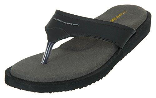 Medifoot Women's Black Rubber House Slippers – 6 UK