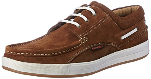 Red Chief Men's Rust Leather Boat Shoes – 8 UK/India (42 EU) (RC1363A 022)