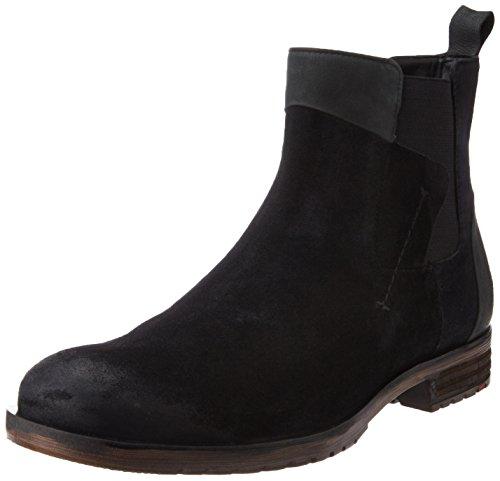 Ruosh Men's Black Leather Boots – 8 UK/India (42 EU)