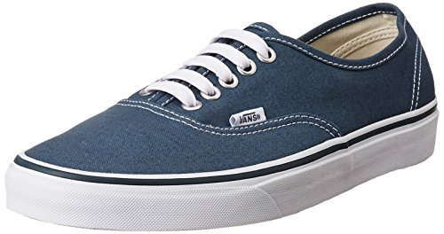 Vans Unisex Authentic (Canvas) Dark Slate and True White Sneakers – 9 UK/India (43 EU)