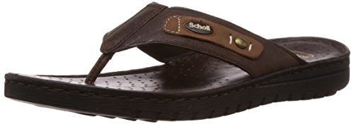 Dr.Scholl Men's Sung Thong Brown Leather Hawaii Thong Sandals – 8 UK/India (42 EU) (8744896)
