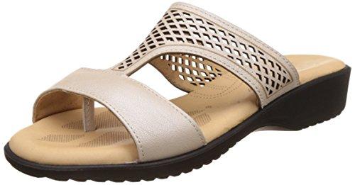 Dr. Scholl's Women's Paris Mule White Leather Slippers – 5 UK/India (38 EU)(6741933)