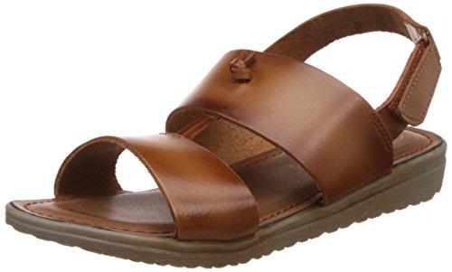 Catwalk Women's Tan Leather Fashion Sandals – 6 UK/India (38 EU)