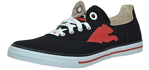 Puma Men's Limnos CAT Ind. Black and High Risk Red Mesh Boat Shoes – 4 UK/India (37 EU)