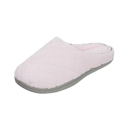 Dearfoams Microfiber Terry Clog Pink Large UK/India 7-8
