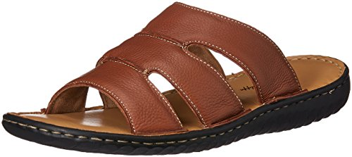 Louis Philippe Men's Tan Leather Sandals and Floaters – 10 UK/India (44 EU)