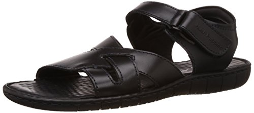 Hush Puppies Men's Sed-Fisherman Black Leather Flip Flops Thong Sandals – 9 UK/India (43 EU)(8646946)