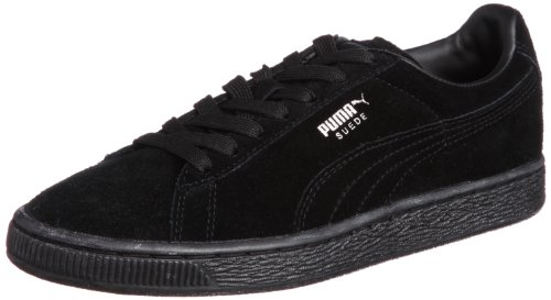 Puma Men's Suede Classic+ Black and Dark Shadow Sneakers – 8 UK/India (42 EU)
