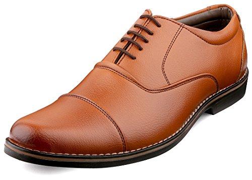 Escaro Men's Tan Formal Oxford Lace Up Dress Shoes (ES1039KB_TAN_9)