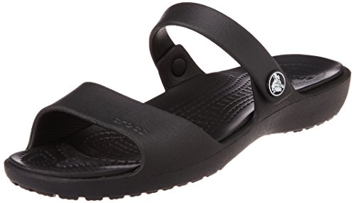 Crocs Women's Crocs Coretta Sandal W Black  Rubber Fashion Sandals – W11