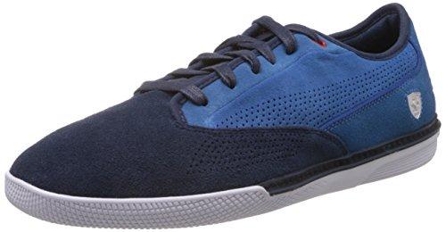 Puma Men's Novellino SF Suave Black Iris and Classic Blue Leather Boat Shoes – 6 UK/India (39 EU)