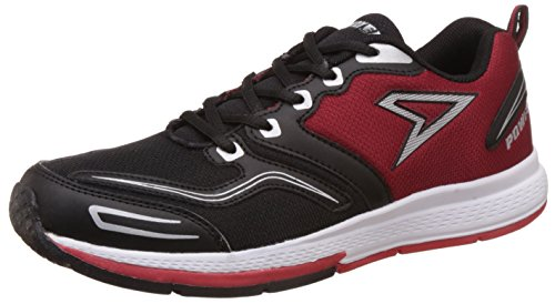 Power Men's Smith Black and Red Running Shoes – 8 UK/India (42 EU)(8395095)