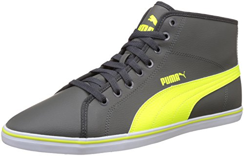 Puma Men's Elsu V2 Mid Sl Idp Dark Shadow and Safety Yellow Sneakers – 9 UK/India (43 EU)