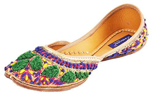 Tamanna Punjabi Ethnic And Traditional Style Leather Flat Heel Fancy Ballerina Juti Mojari Sandals For Girls And Women (Multicolor), sandals for girls, girls sandals, sandals for women, women sandals, women footwear, juti for girls,footwear for women, chappals for women, casual sandals, sandals for girls, women's sandals, girl sandals, heels for girls, woman footwear, sandals girls, casual sandals for women, woman sandals, chapal for women, sandals women, sandal for girls