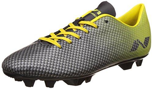 Nivia Premier Carbonite Range Football Studs, Men's UK 7 (Black/Yellow)