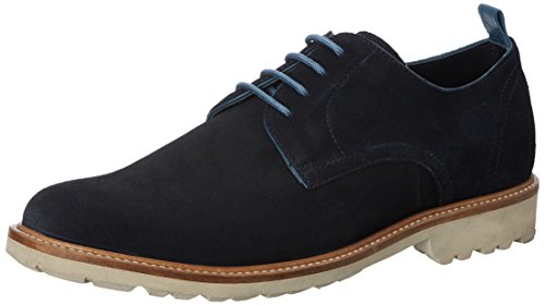 Hush Puppies Men's Debonair Suede Blue Leather Sneakers – 9 UK/India (43 EU)(8249851)