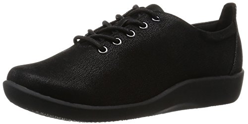 Clarks Women's Black Leather Fashion Espadrille Flats – 4 UK/India (37 EU)