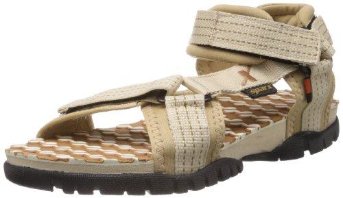 Sparx Men's Camel Brown and Beige Nylon Athletic & Outdoor Sandals  – 9 UK