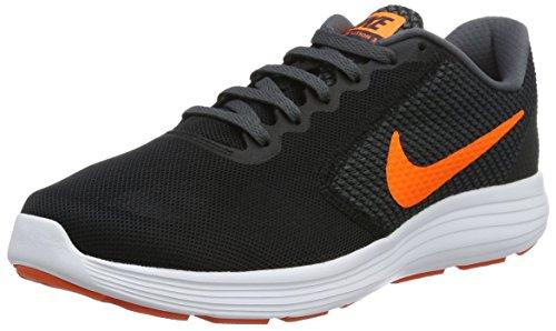 Nike Men s Revolution 3 Running Shoe Black/Total Orange/Dark Grey/Turf Orange 11 D(M) US