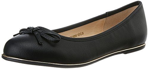 Allen Solly Women's Black Ballet Flats – 3 UK/India (35 EU)