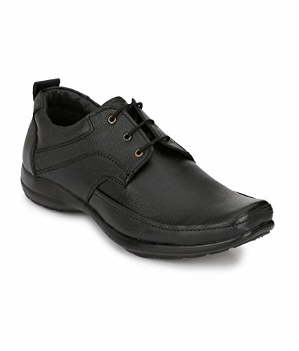 Peddeler Men's Genuine Leather Black Formal Shoes (10 UK)