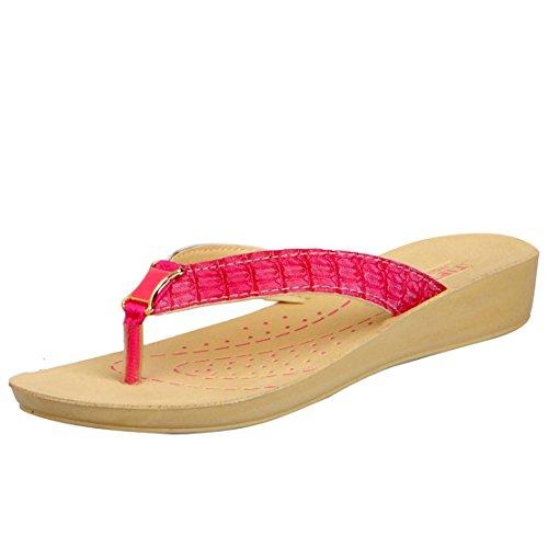Tiptopp Women's Sophia Pink Traditional Slippers – 5 UK/India (38 EU)