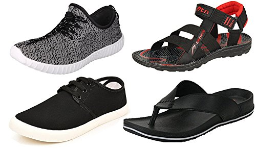 Maddy Perfect Combo of Sport Shoes, Sneaker, Sandal & Slipper for Men Pack of 4 in Various Sizes (8)