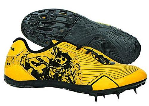 Nivia Spirit Running Spikes,UK 3 (Yellow/Black)