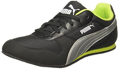 Puma Men's Superior Dp Black-Silver-Limepunch Sneakers – 11 UK/India (46 EU)