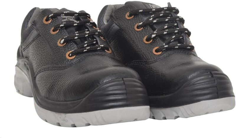 Hillson Nucleus Safety Shoe with Steel Toe Cap ISI Marked Casuals(Black, Grey)