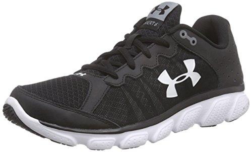 Under Armour Men's Micro GA Assert 6 Black and White Running Shoes – 10 UK/India (45 EU)