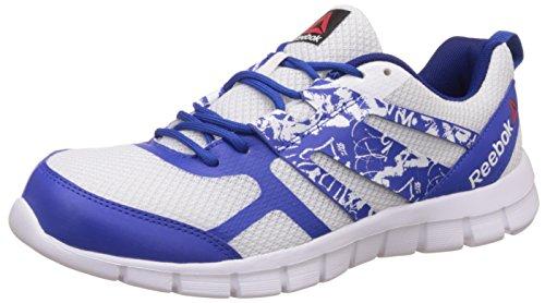 reebok mens speed xt white reebok royal and metallic silver running shoes  -