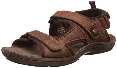 Hush Puppies Men's New Decode Sandal Brown Leather Athletic and Outdoor Sandals – 8 UK/India (42 EU)(8644909)