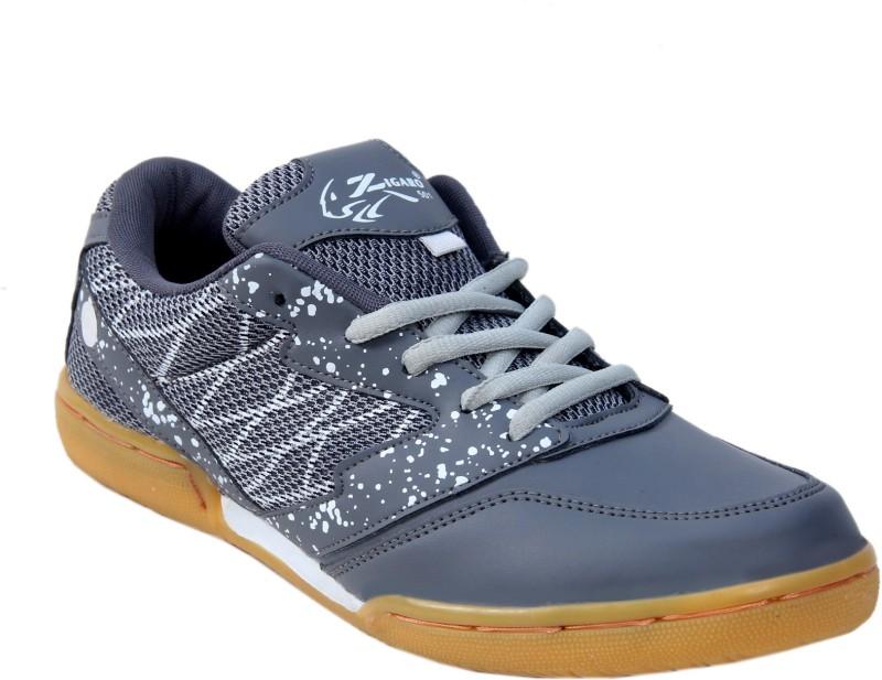 Zigaro Z501 GREY NON MARKING BADMINTON SHOE Badminton Shoes(Grey)