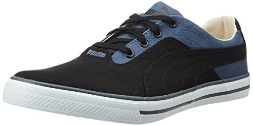 Puma Unisex's Slyde Idp Puma Black and Vintage Indigo Sneakers – 4 UK/India (37 EU)