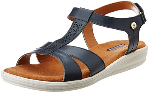 Hush Puppies Women's Bella_Sandal Blue Leather Fashion Sandals – 4 UK/India (37 EU)(5649965)
