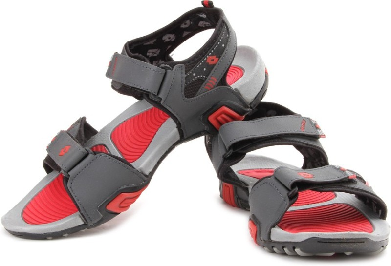 Lotto Men Grey/Red Sports Sandals