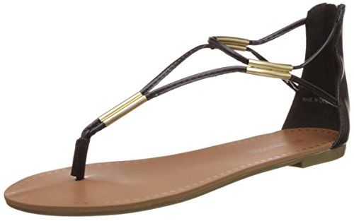 Steve Madden Women's Maythem Black Fashion Sandals – 3 UK/India (35.5 EU)(5 US)