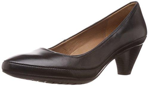 Clarks Women's Denny Mellow Black (Fit D) Leather Pumps – 7 UK