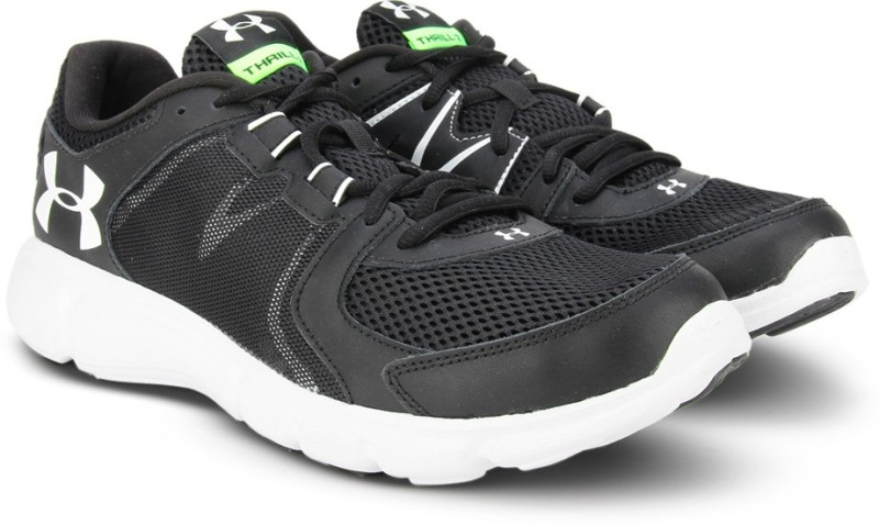 Under Armour UA Thrill 2 Running Shoes(Black, White)